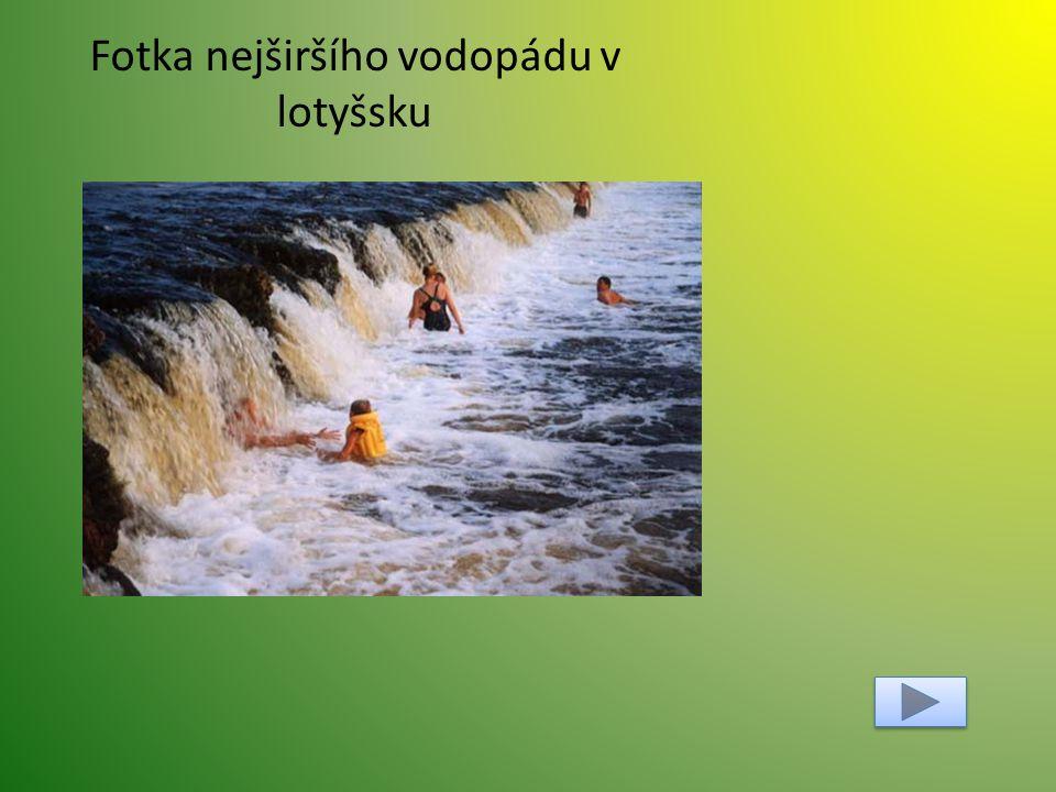 Fotka nejširšího vodopádu v lotyšsku