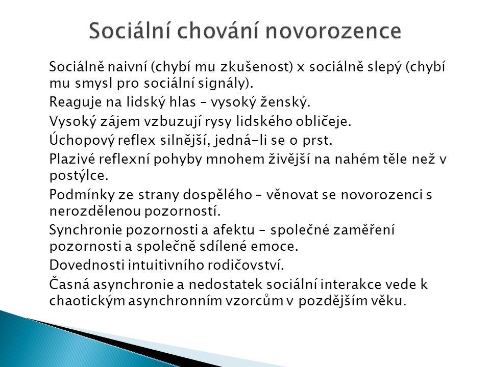 Sociální chování novorozence