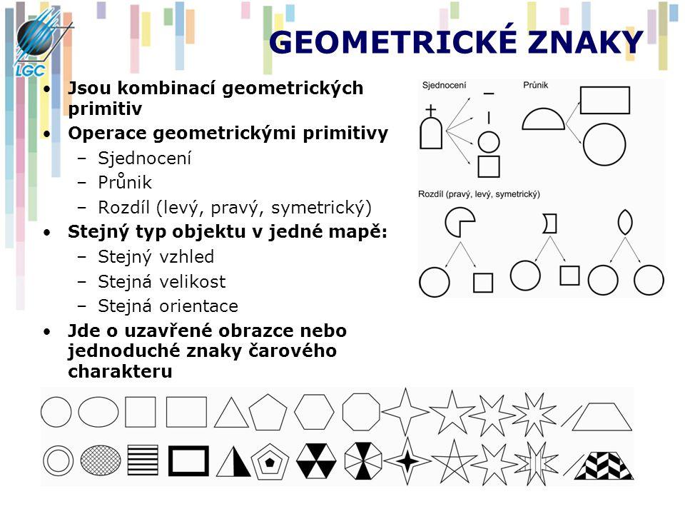GEOMETRICKÉ ZNAKY Jsou kombinací geometrických primitiv