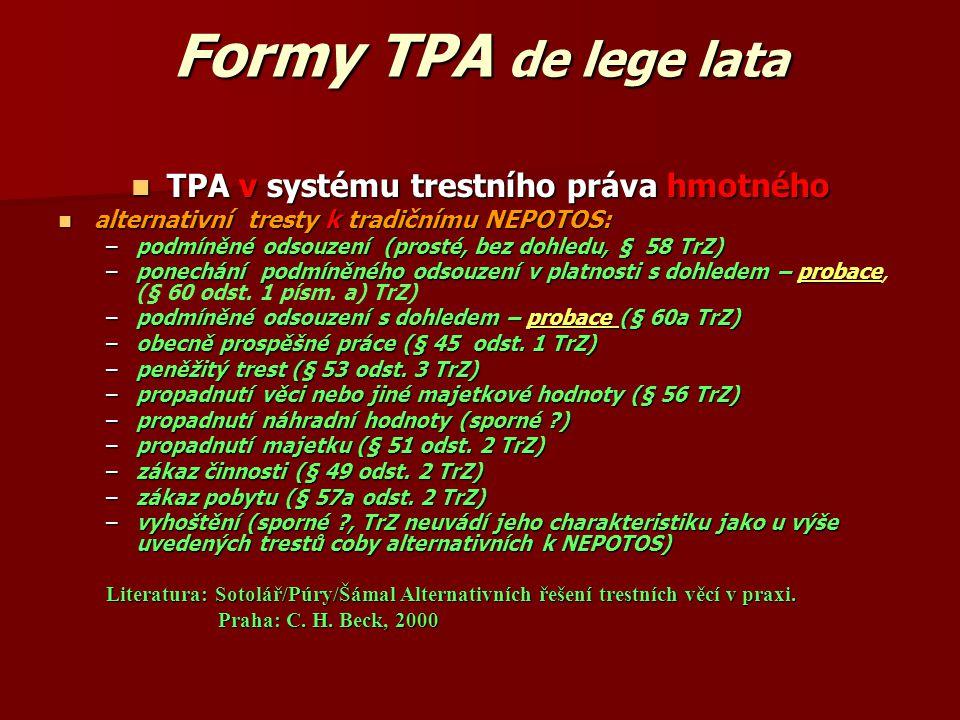 TPA v systému trestního práva hmotného