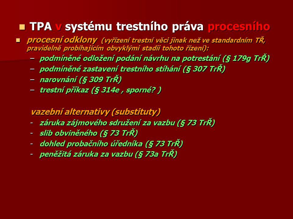 TPA v systému trestního práva procesního