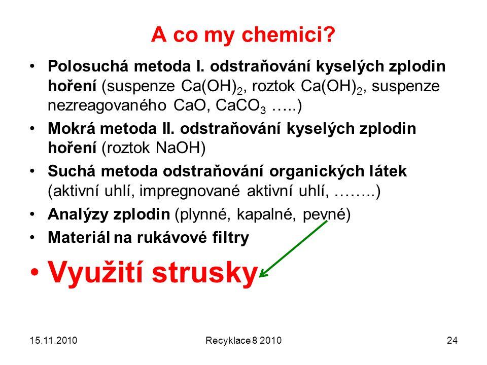 Využití strusky A co my chemici