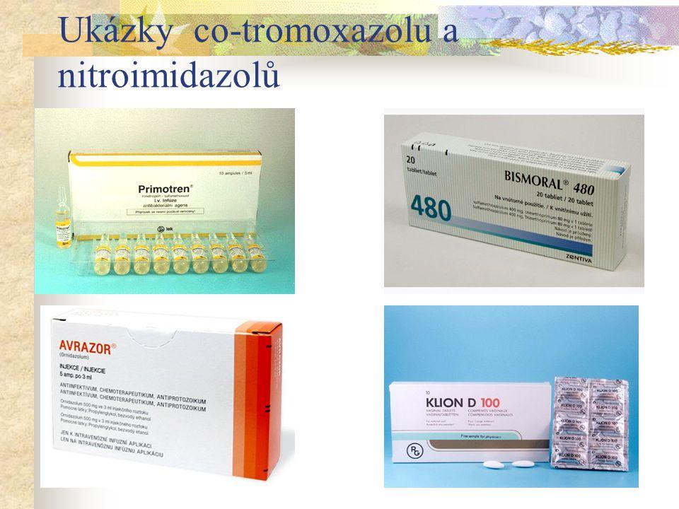 Ukázky co-tromoxazolu a nitroimidazolů