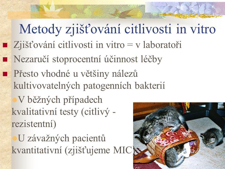 Metody zjišťování citlivosti in vitro