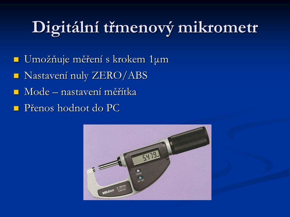 Digitální třmenový mikrometr