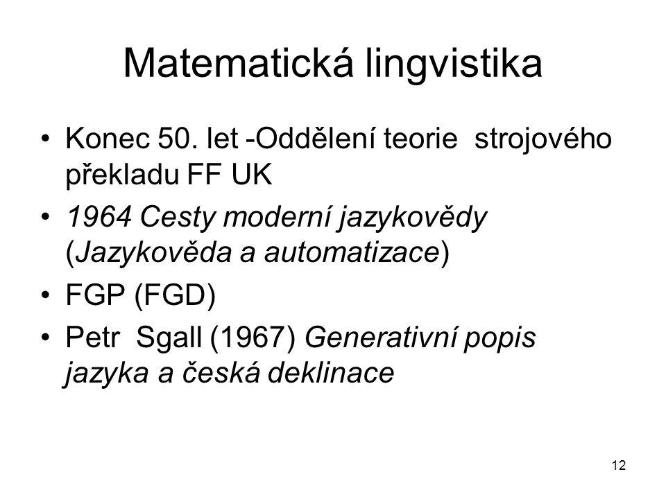 Matematická lingvistika