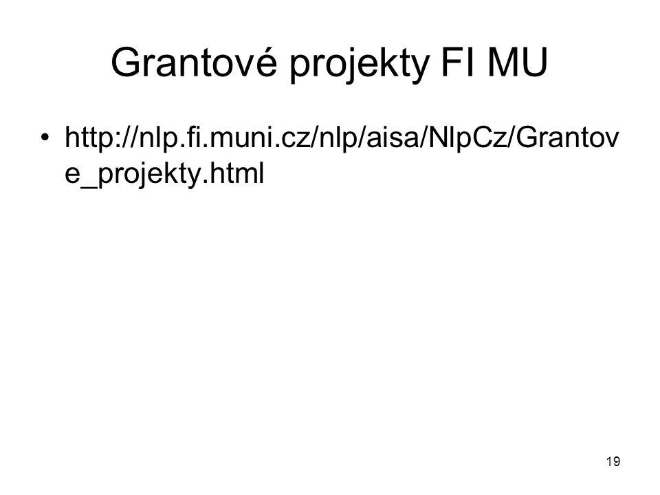 Grantové projekty FI MU