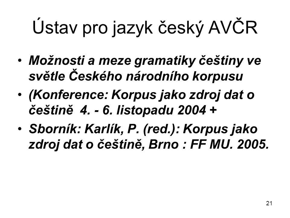 Ústav pro jazyk český AVČR