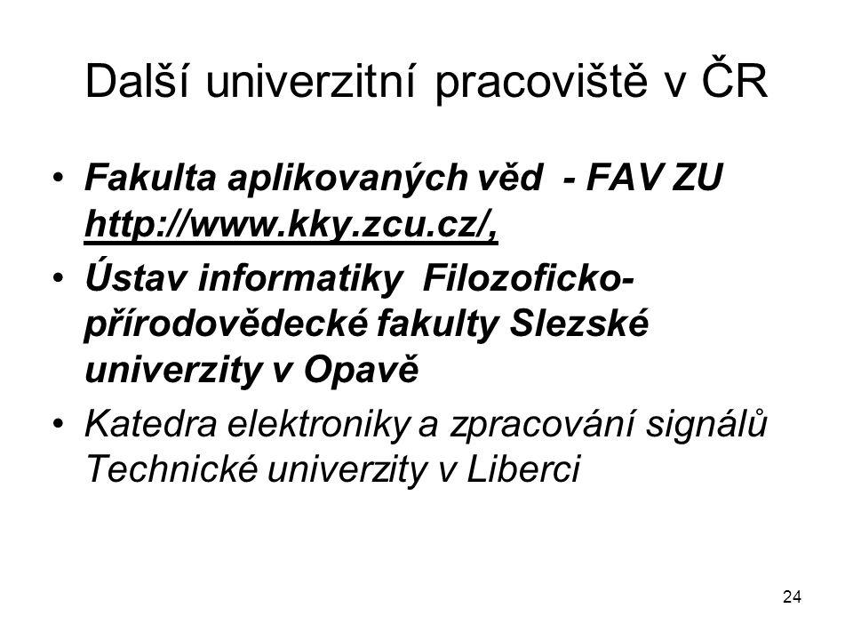 Další univerzitní pracoviště v ČR