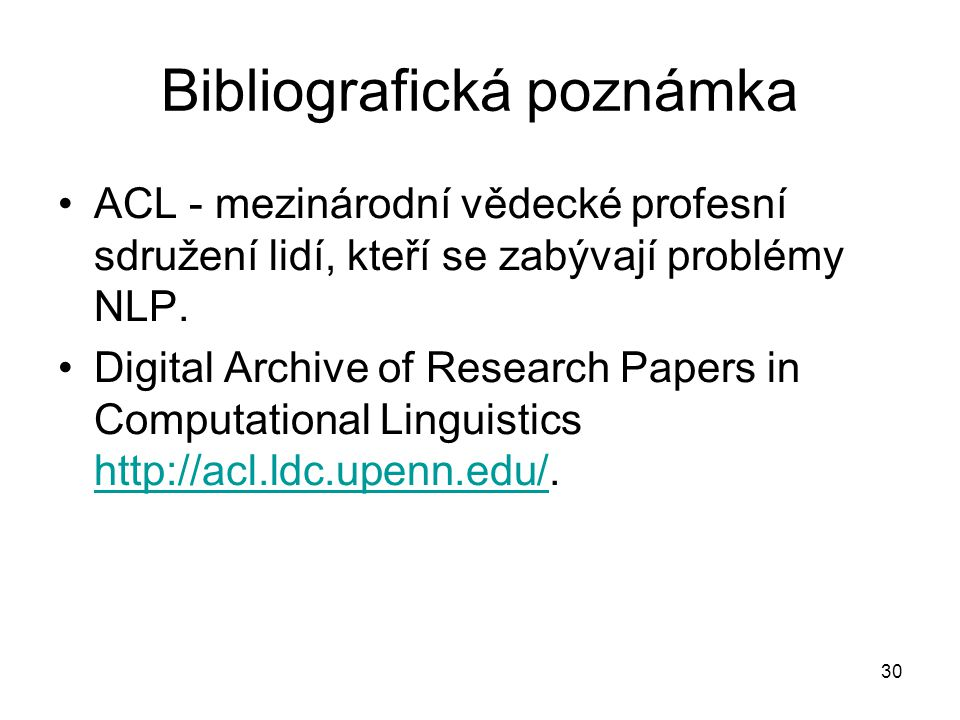 Bibliografická poznámka