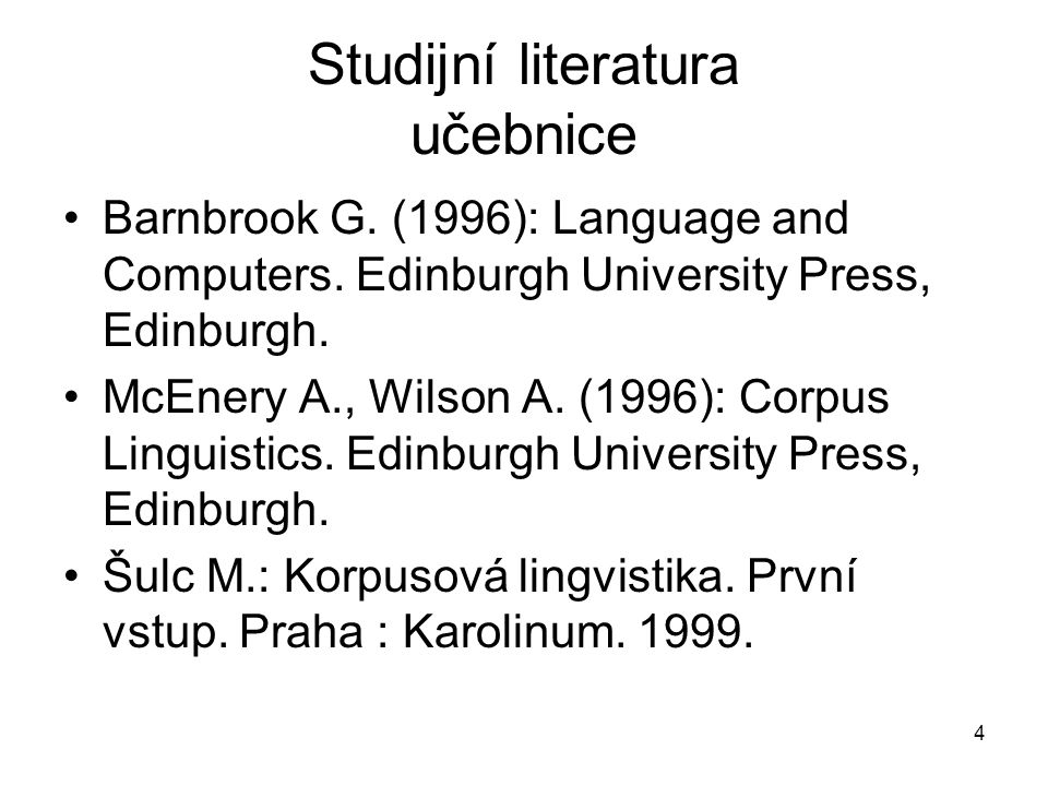 Studijní literatura učebnice