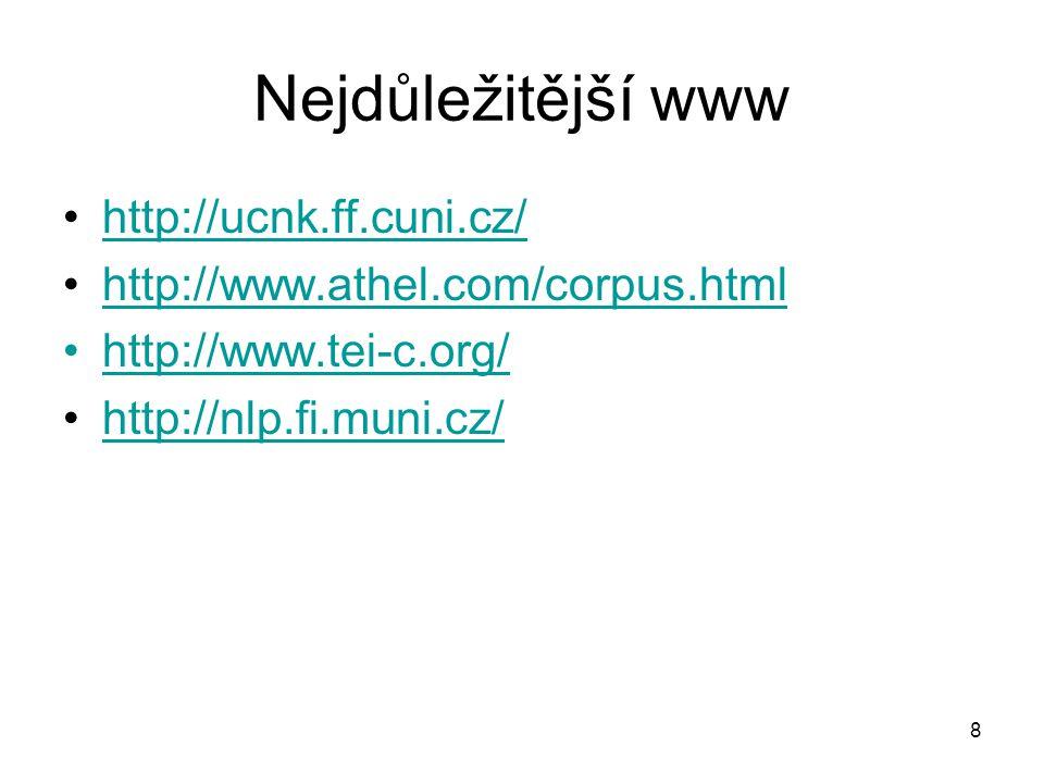 Nejdůležitější www http://ucnk.ff.cuni.cz/