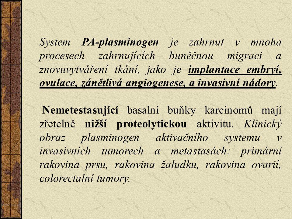 System PA-plasminogen je zahrnut v mnoha procesech zahrnujících buněčnou migraci a znovuvytváření tkání, jako je implantace embryí, ovulace, zánětlivá angiogenese, a invasivní nádory.