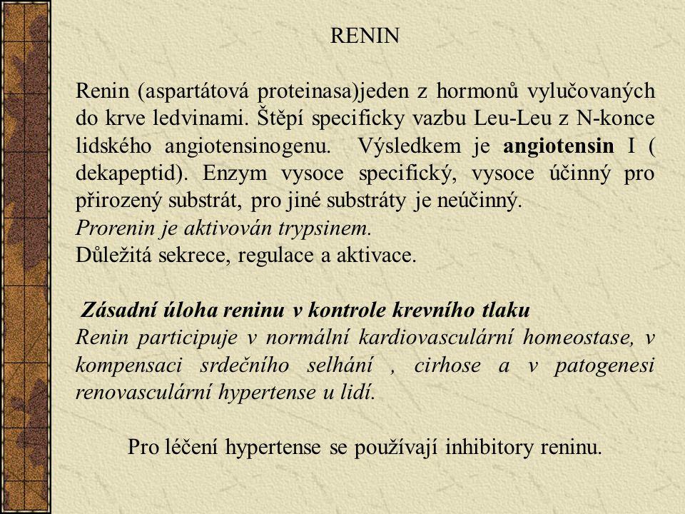 Pro léčení hypertense se používají inhibitory reninu.