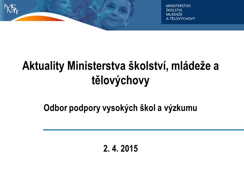 Aktuality Ministerstva školství, mládeže a tělovýchovy