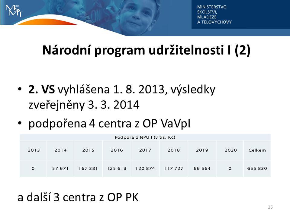 Národní program udržitelnosti I (2)