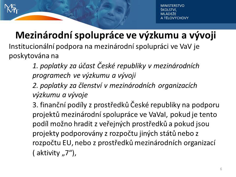 Mezinárodní spolupráce ve výzkumu a vývoji