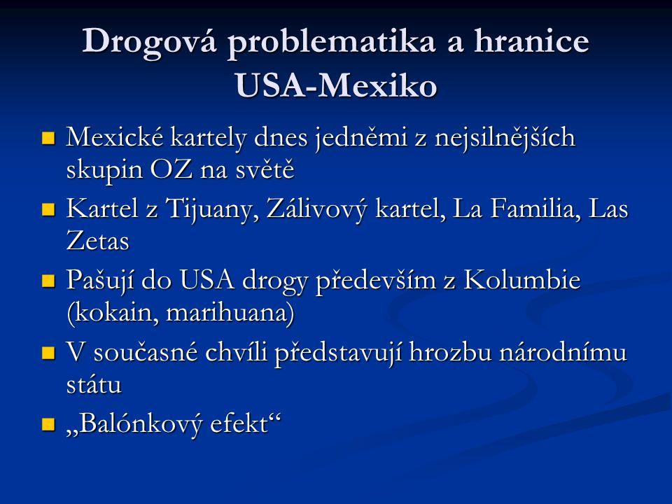 Drogová problematika a hranice USA-Mexiko