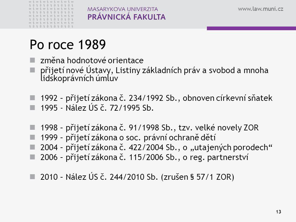 Po roce 1989 změna hodnotové orientace