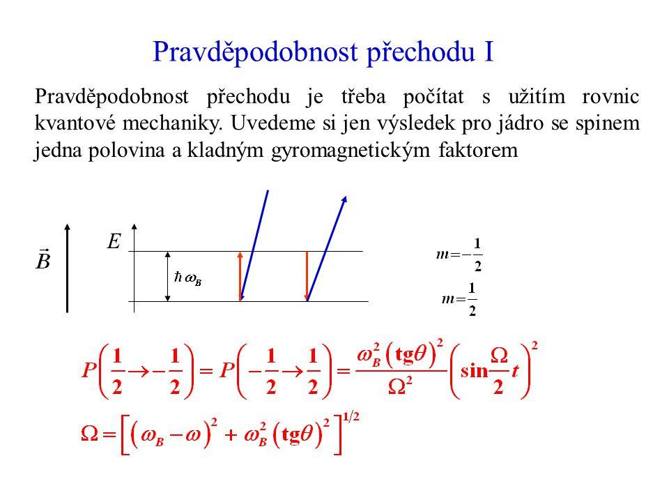 Pravděpodobnost přechodu I