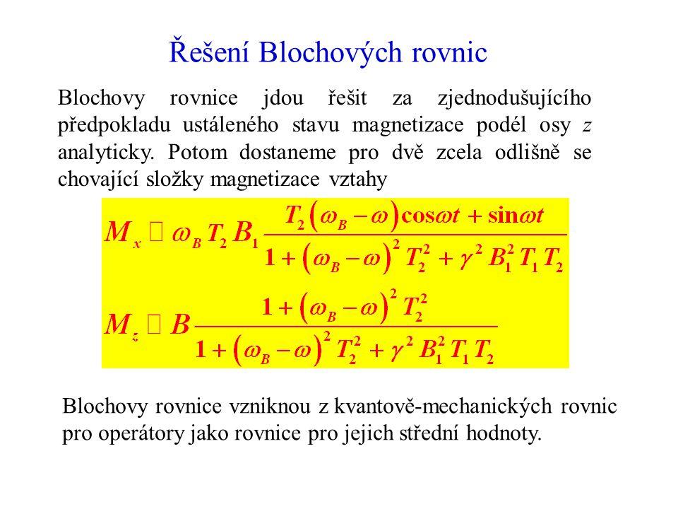 Řešení Blochových rovnic