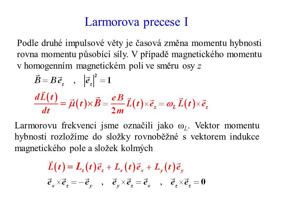 Larmorova precese I