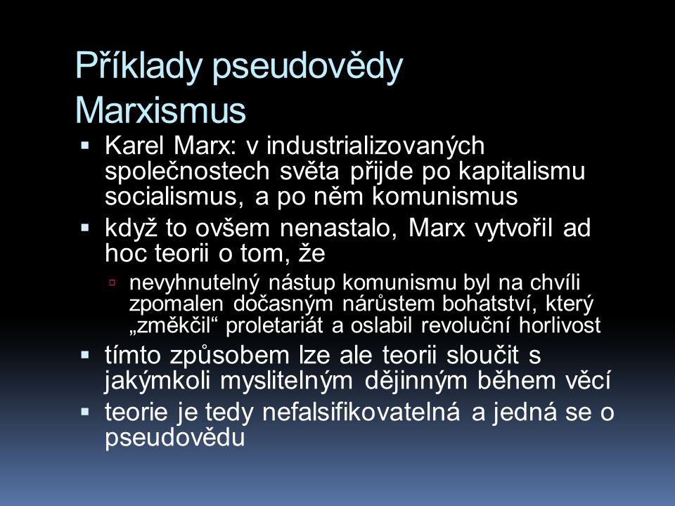Příklady pseudovědy Marxismus