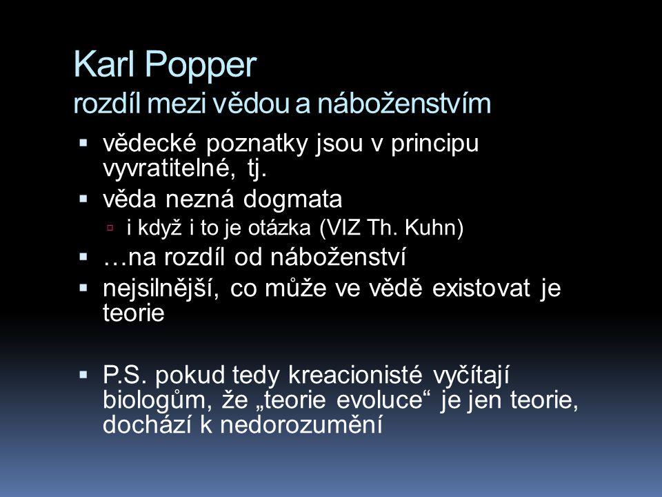 Karl Popper rozdíl mezi vědou a náboženstvím