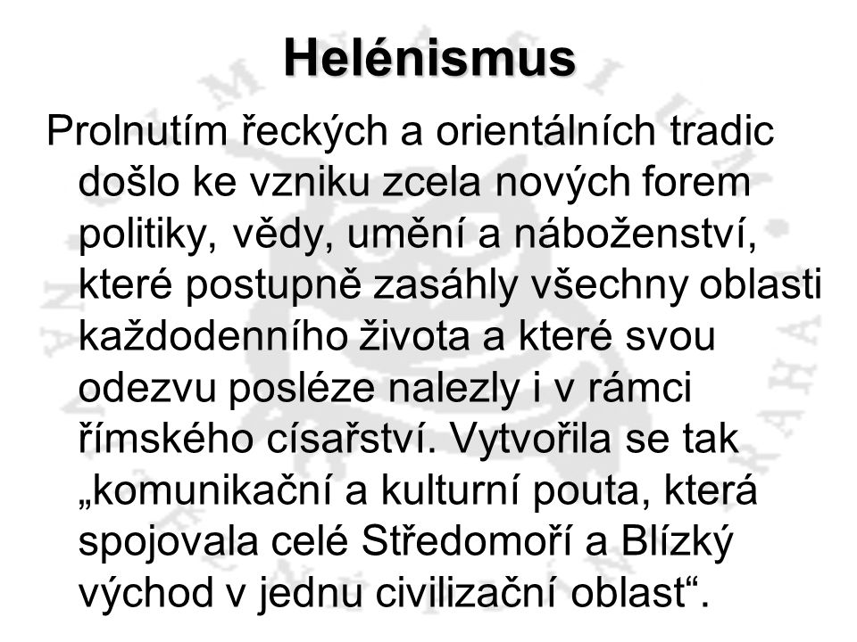 Helénismus