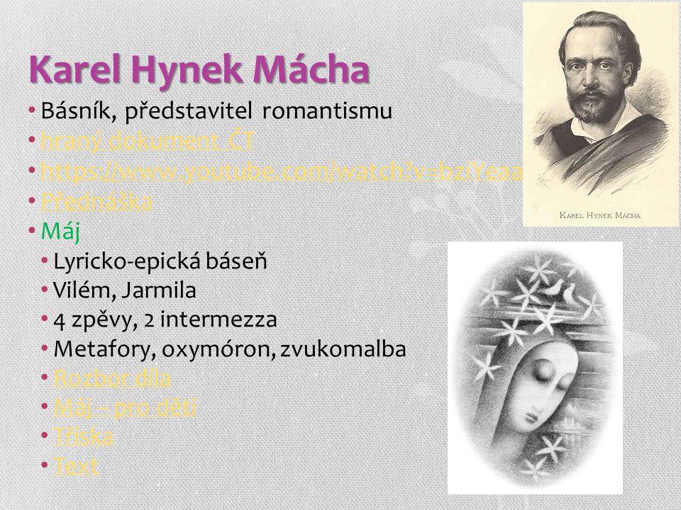 Karel Hynek Mácha Básník, představitel romantismu hraný dokument ČT