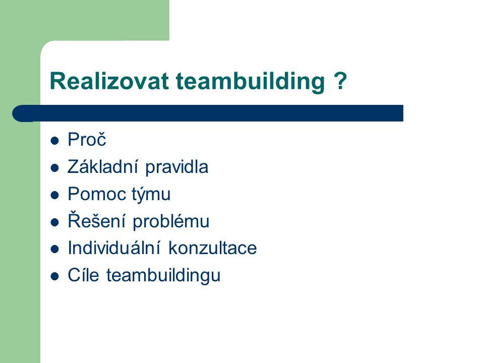 Realizovat teambuilding