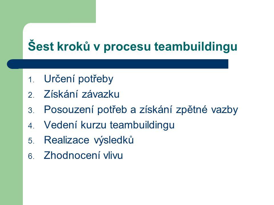 Šest kroků v procesu teambuildingu