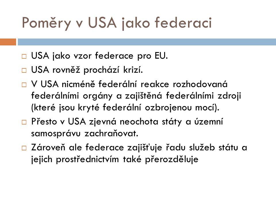 Poměry v USA jako federaci