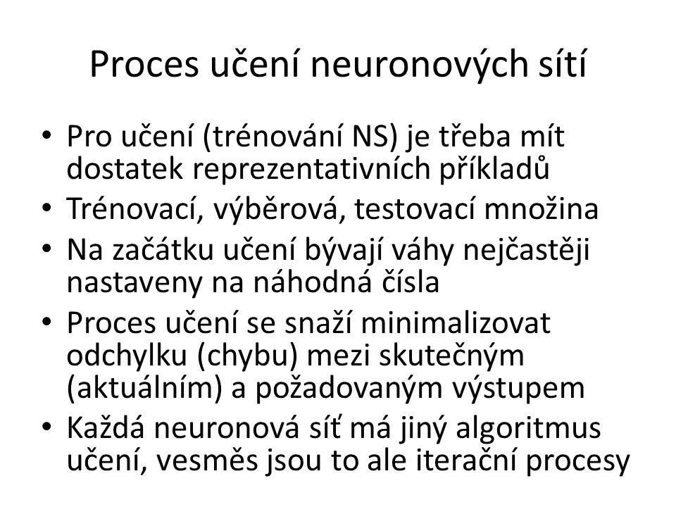 Proces učení neuronových sítí