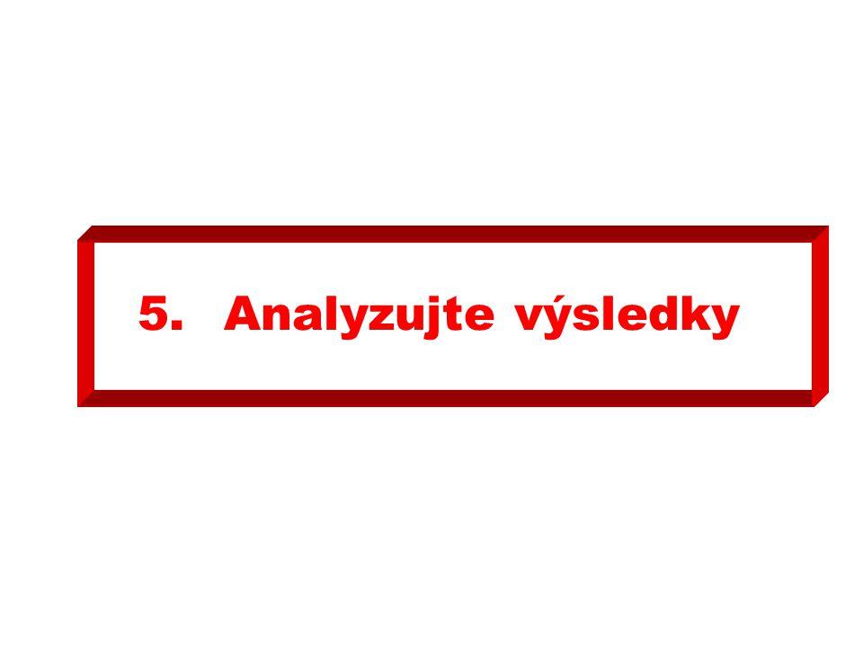 5. Analyzujte výsledky