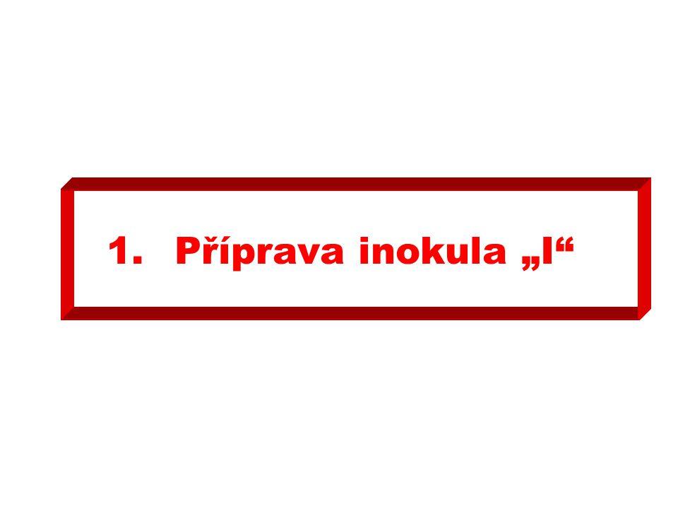 """1. Příprava inokula """"I"""