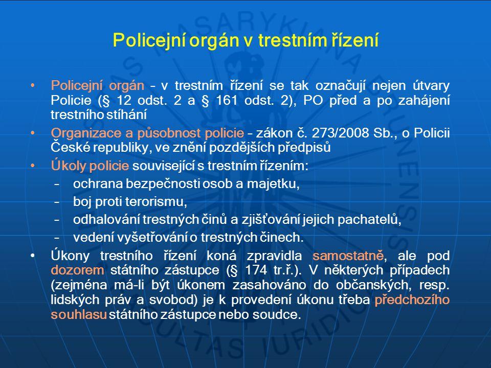 Policejní orgán v trestním řízení