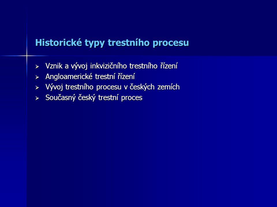 Historické typy trestního procesu