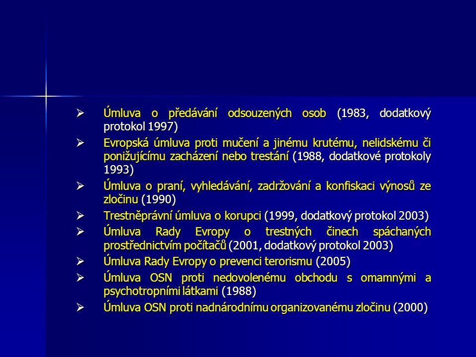 Úmluva o předávání odsouzených osob (1983, dodatkový protokol 1997)