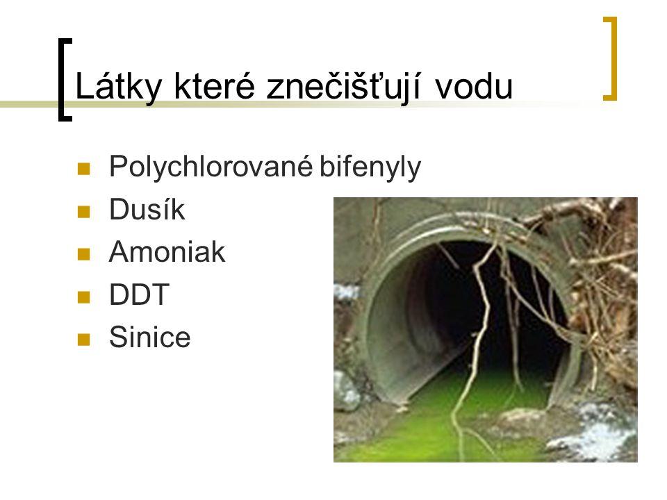 Látky které znečišťují vodu
