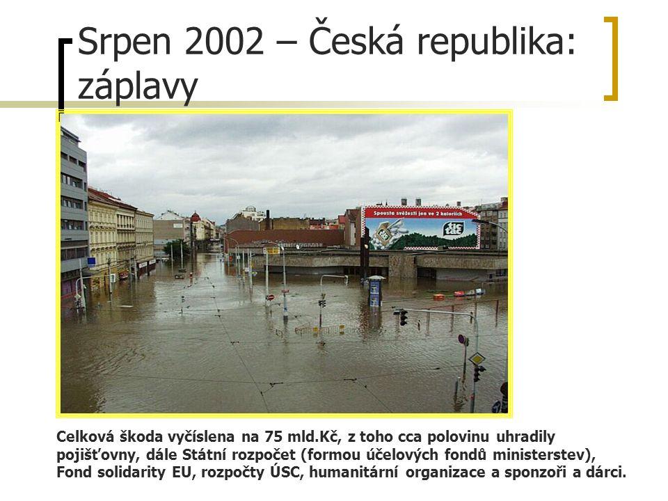 Srpen 2002 – Česká republika: záplavy