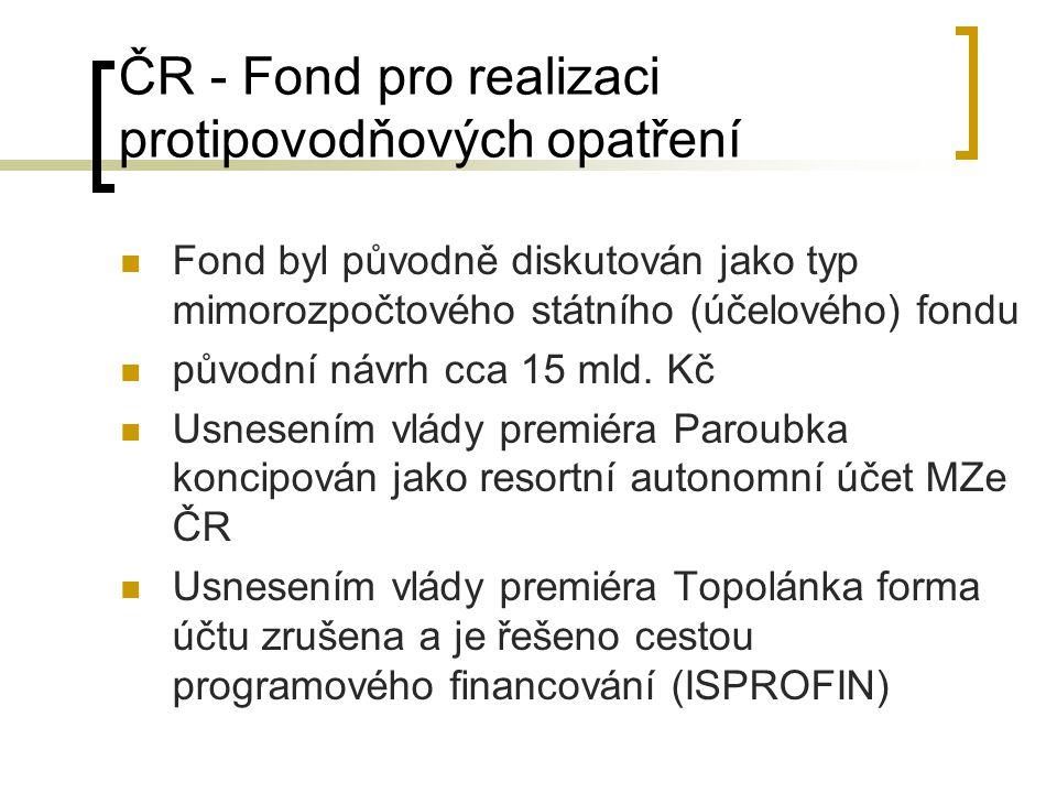 ČR - Fond pro realizaci protipovodňových opatření