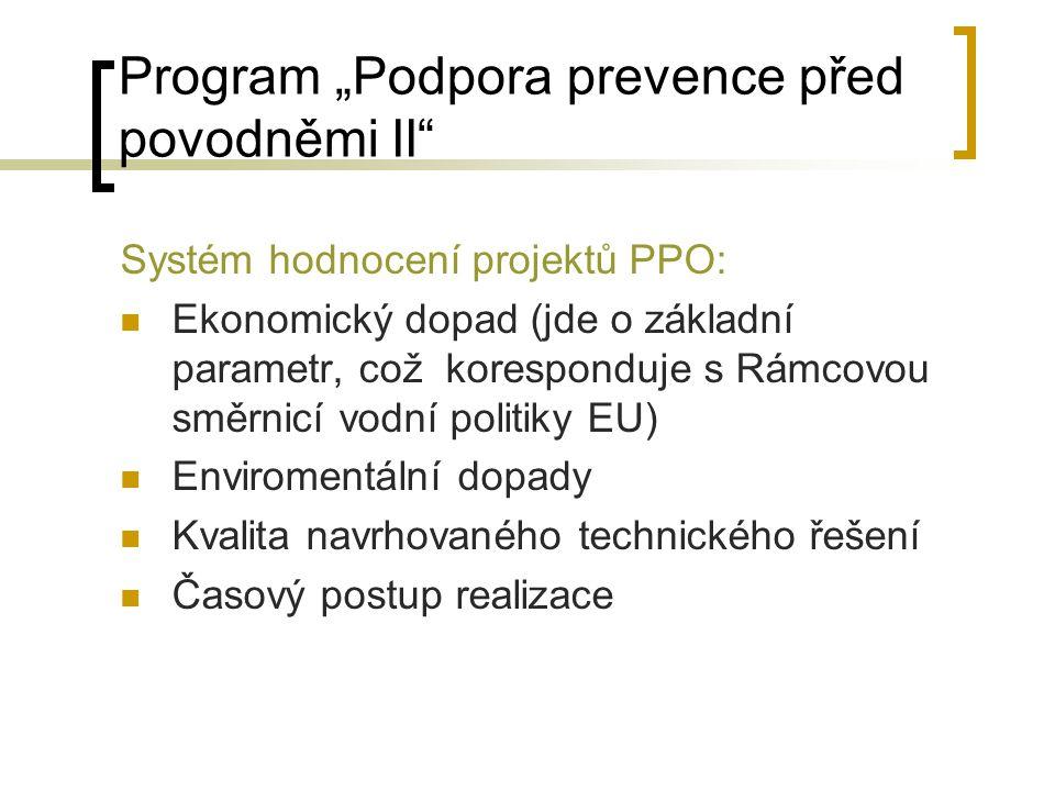 """Program """"Podpora prevence před povodněmi II"""