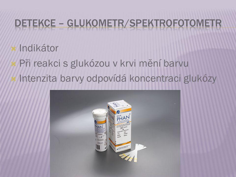 Detekce – glukometr/Spektrofotometr