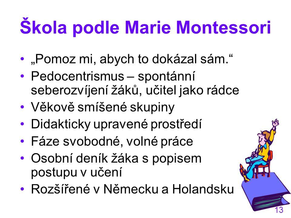 Škola podle Marie Montessori