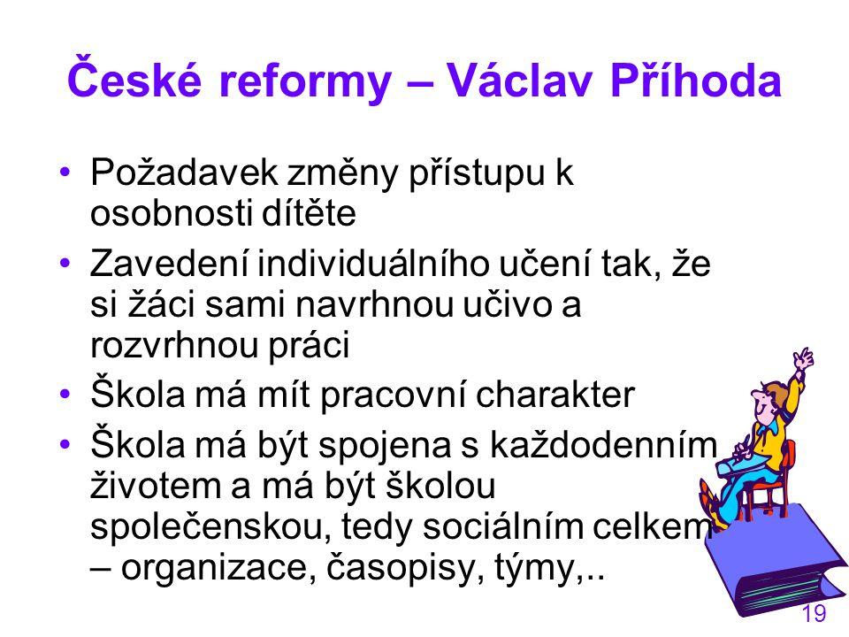 České reformy – Václav Příhoda