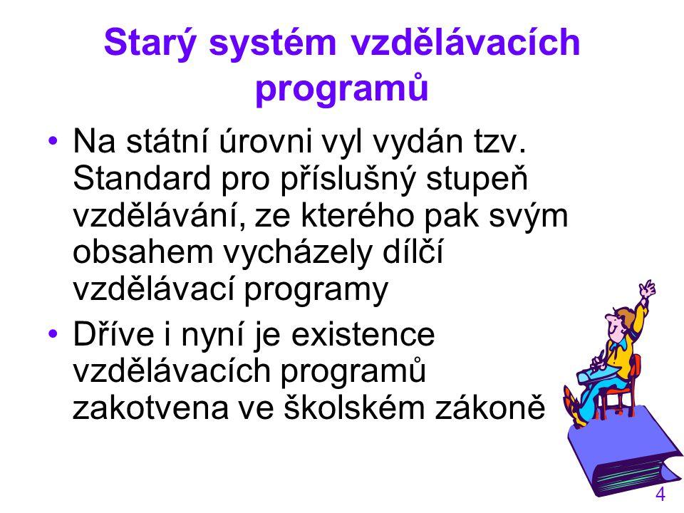 Starý systém vzdělávacích programů