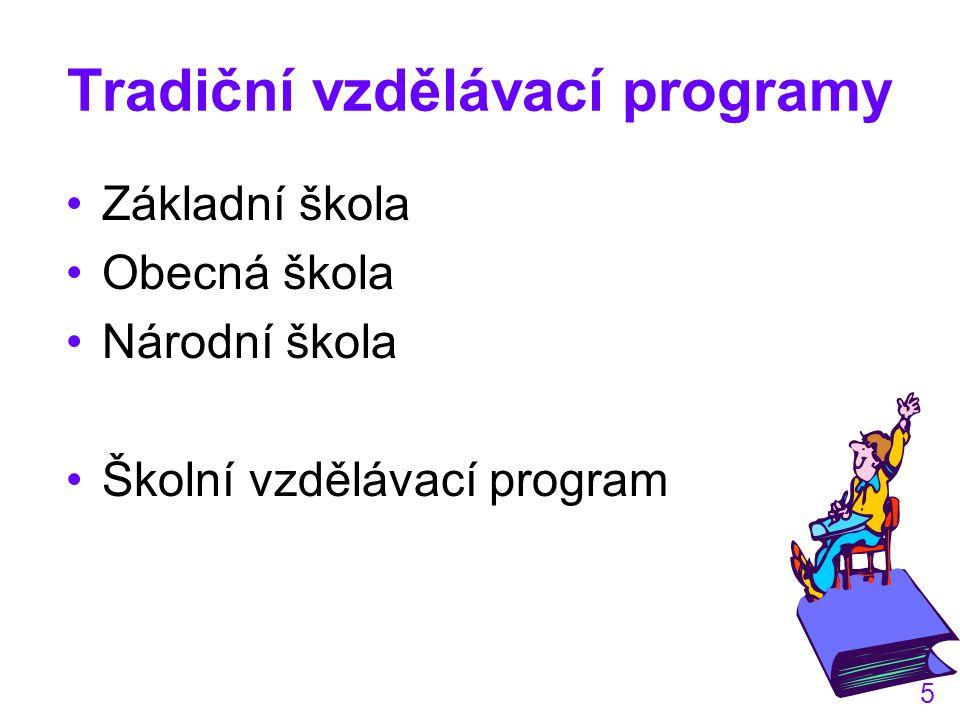 Tradiční vzdělávací programy