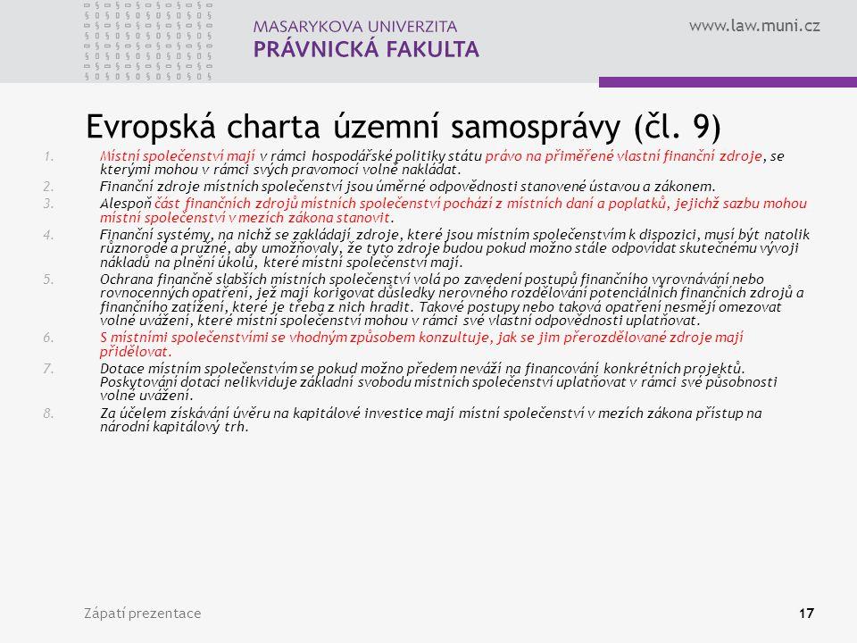 Evropská charta územní samosprávy (čl. 9)