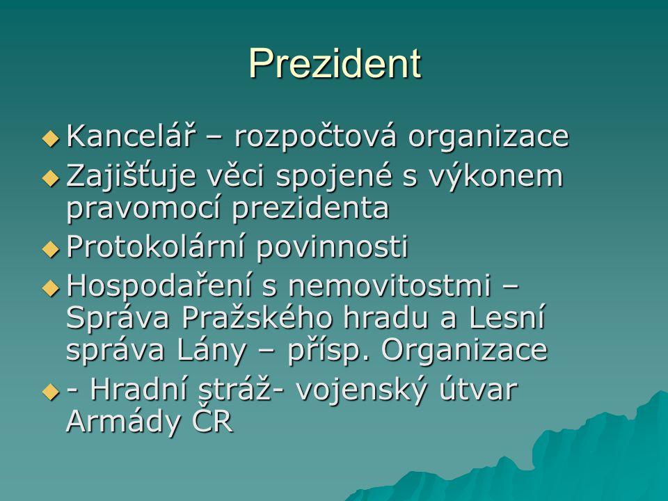 Prezident Kancelář – rozpočtová organizace